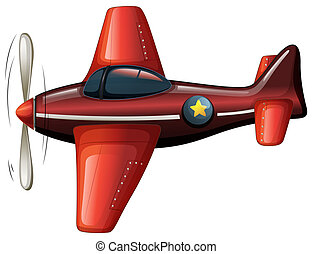 A red vintage plane