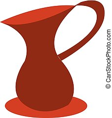 A red water jug vector or color illustration - A red water ...
