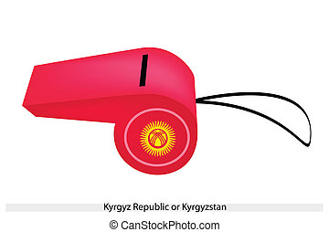 A Red Whistle of The Kyrgyz Republic