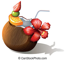 A refreshing beach drink - Illustration of a refreshing ...