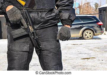 a, rendőr, képben látható, illeték
