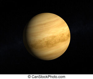 Planet Venus - A rendering of the Planet Venus on a starry ...