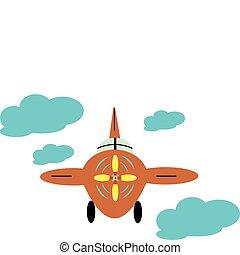 a, repülőgép, alatt, elhomályosul