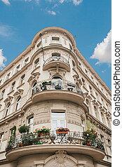 A residential building in Prague in the Czech Republic.