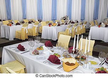 a restaurant banquet room