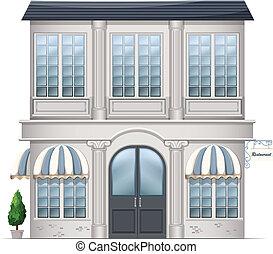 A restaurant building