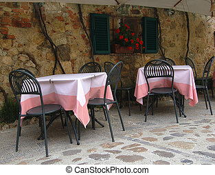 a restaurant in italy