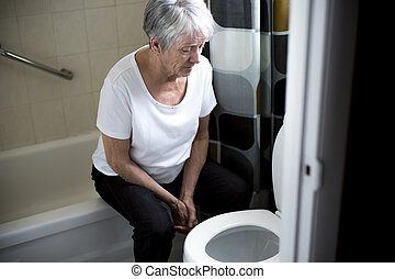 Retirement woman fell down in a restroom - A Retirement...