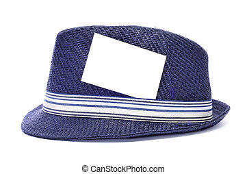 hat with a blank label