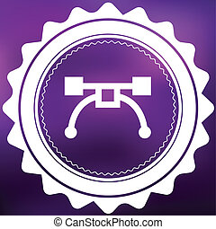 Retro Icon Isolated on a Purple Background - Pen Tool