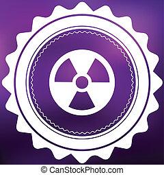 Retro Icon Isolated on a Purple Background - Radio Active