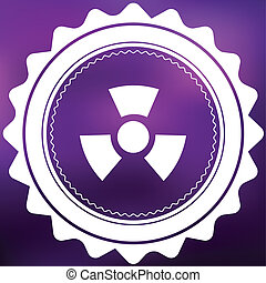 Retro Icon Isolated on a Purple Background - Radio Active Round