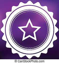 Retro Icon Isolated on a Purple Background - Star