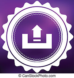 Retro Icon Isolated on a Purple Background - Upload