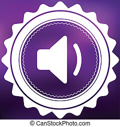 Retro Icon Isolated on a Purple Background - Volume