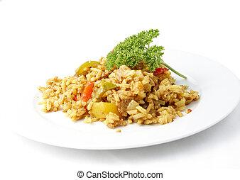 A rice dish