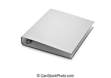 ring binder - a ring binder isolated on a white background