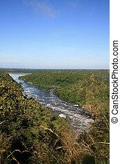 a, rio nilo, uganda, áfrica