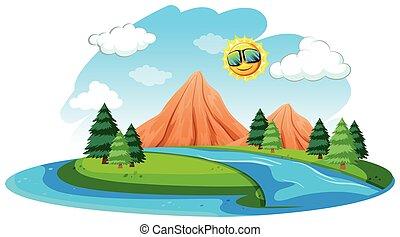 A river natural landscape