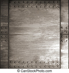 riveted steel - A riveted steel background. It can be used...
