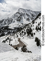 A road across the snowy