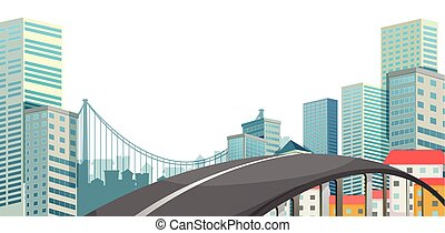 A road at the city