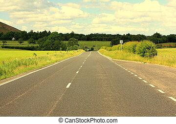 A road in Scotland
