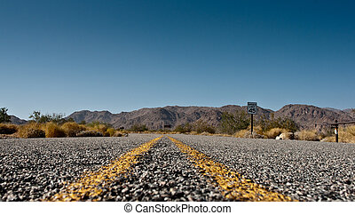 A road in the desert