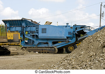A rock and concrete crusher