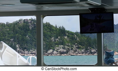 A rocky island in the middle of the sea - A shot from inside...