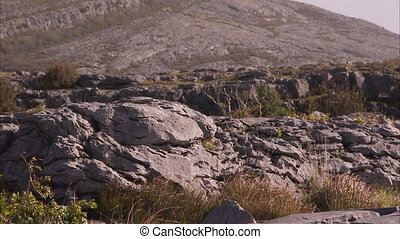 A rocky terrain in Ireland