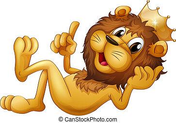 a, roi, lion