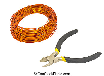 A roll of copper wire