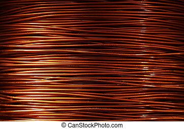 copper wire - A roll of copper wire