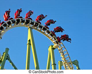 Roller Coaster - A Roller Coaster in Amusement Park