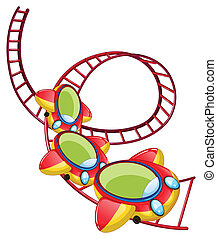 A roller coaster ride - Illustration of a roller coaster...