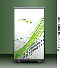 stand banner template - a rolup display with stand banner ...