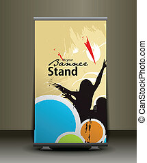 stand banner template