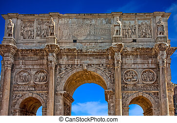 A Roman Gate - An ancient gate outside the Coliseum in Rome...