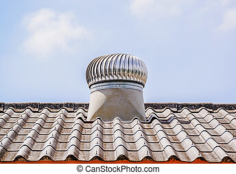 A roof ventilator for heat control moving on top roof