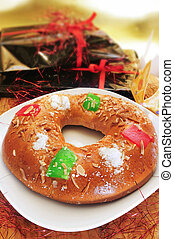 roscon de reyes, spanish three kings cake - a roscon de...