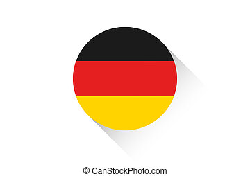 Round flag with shadow of Germany