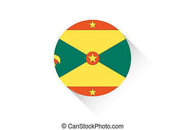 Round flag with shadow of Grenada