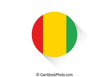 Round flag with shadow of Guinea