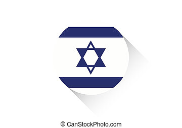 Round flag with shadow of Israel