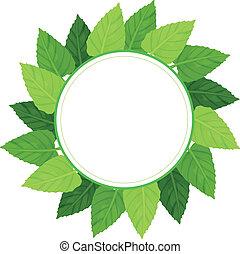 A round green leafy border