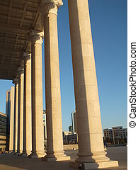 A row of columns in classical style