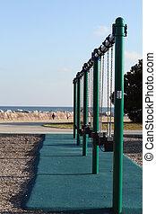A Row of Swings