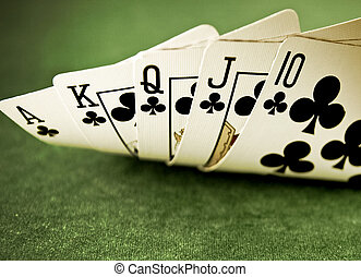 a royal flush on green felf macr image detail 1 - a royal ...