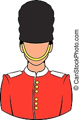 A Royal Guard icon cartoon
